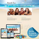 **Mobile/Responsive Skin 60072_SeaBlue*Mega Menu*Free Modules*Social Groups*Vacation/Tour*DNN5/6/7.x